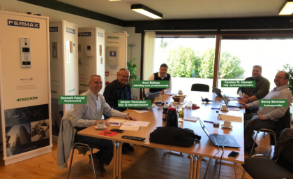 Team Freund har gennemgået et seminar i Duox fra Fermax