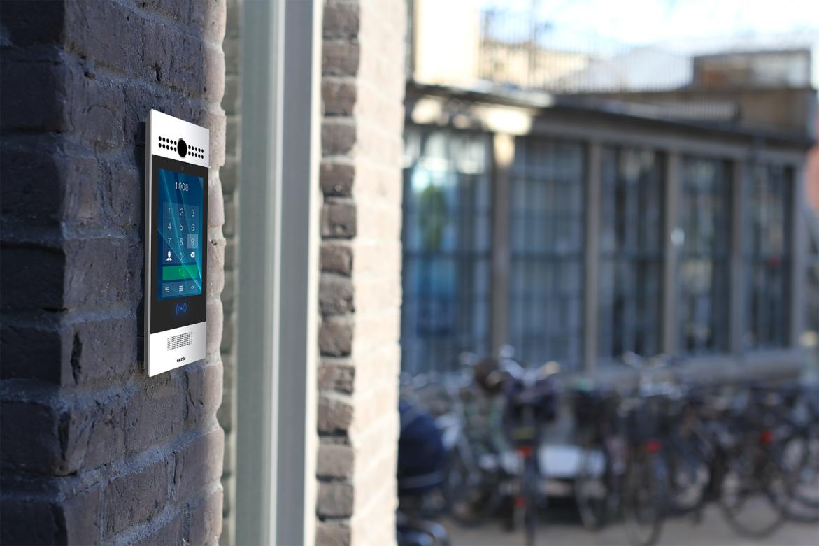 Freund IP video dørstation med display og wiegand læser