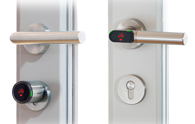 Trådløs smart dørhåndtag fra Jantar til udvendig og indvendig adgangskontrol