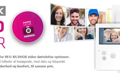 Fermax PHOTOCALLER: Gratis billedelager til DUOX- skærme